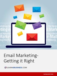 Email marketing e-book by Deborah Collier: Email Marketing - Getting it Right