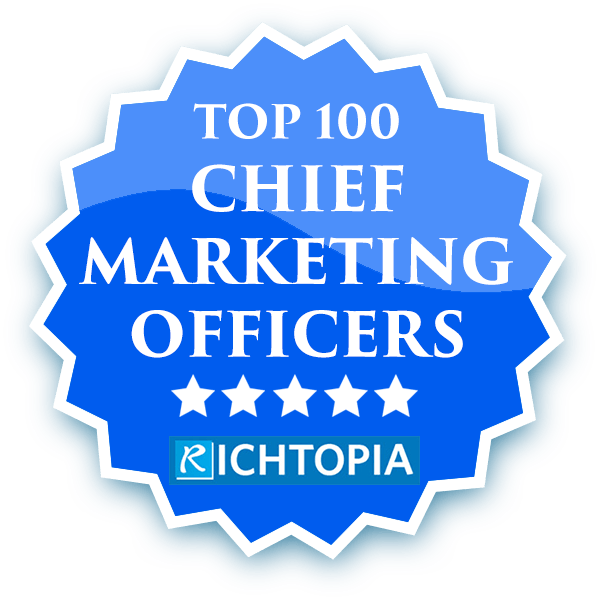Deborah Collier in Top 100 Chief Marketing Officers in the world Rankings.